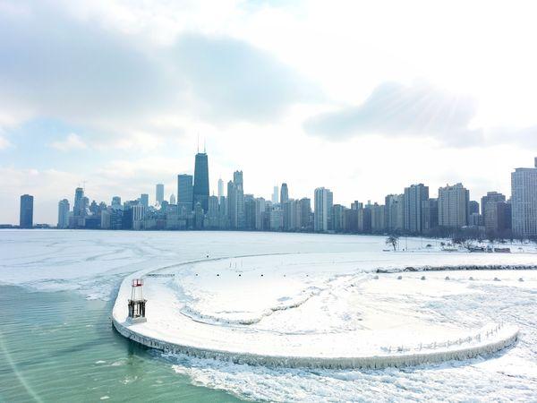 Winter Icy Skyline