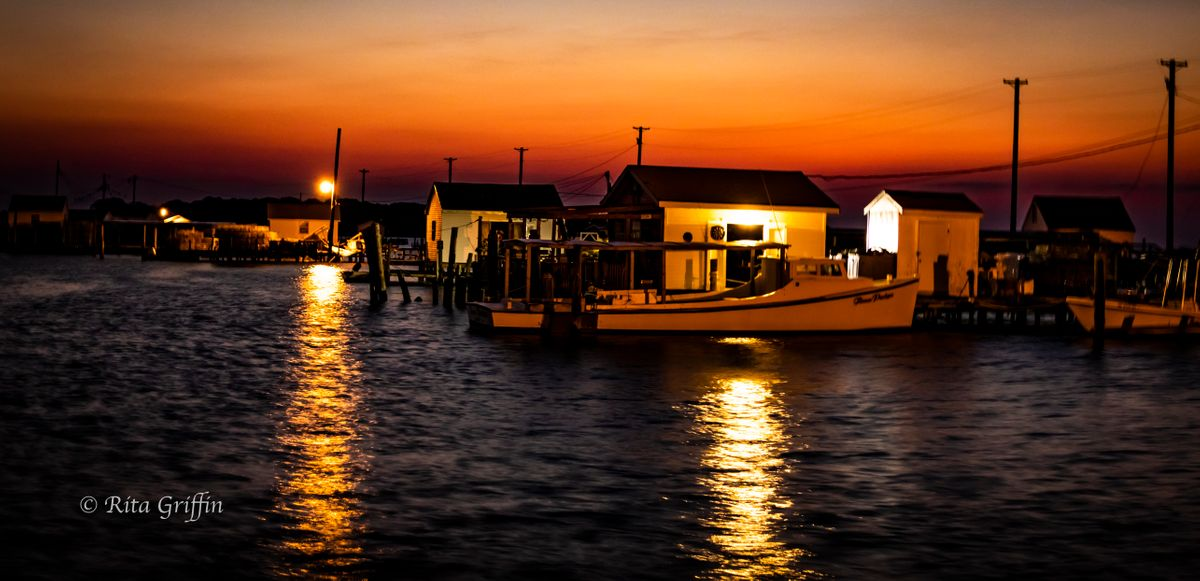 Working Boat at Dawn on Tangier Island-1