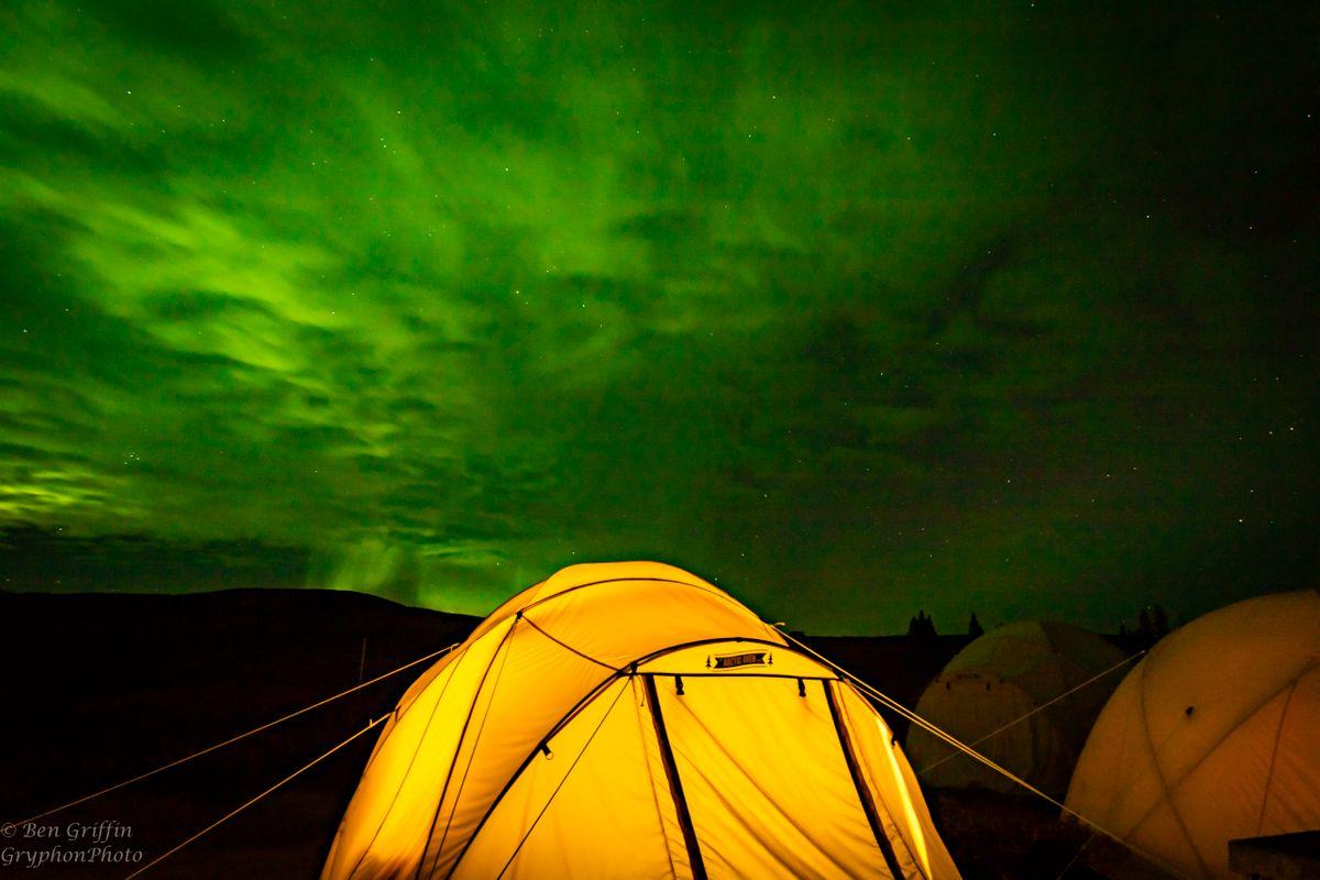 Tundra Camp Aurora Borealis