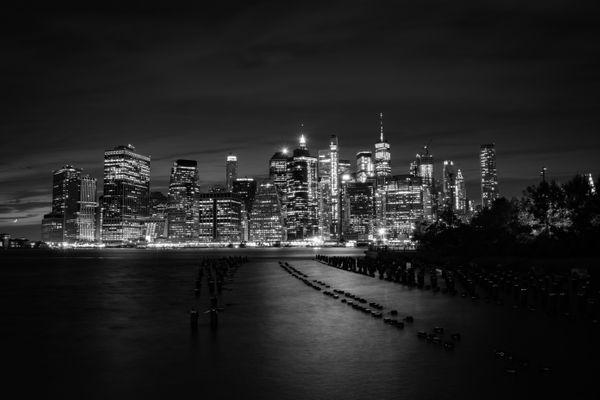 Lower Manhattan from Brooklyn at Night BNW_08.31.19.jpg