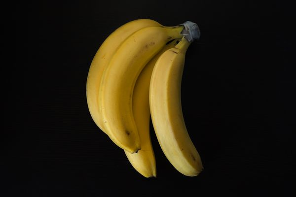 Bunch of Bananas on Table