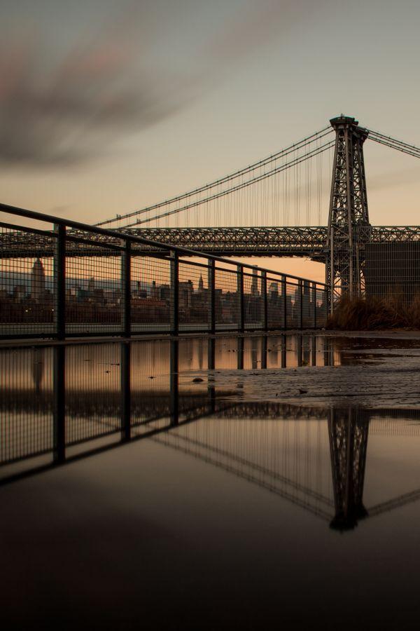 New York City Skyline Reflection
