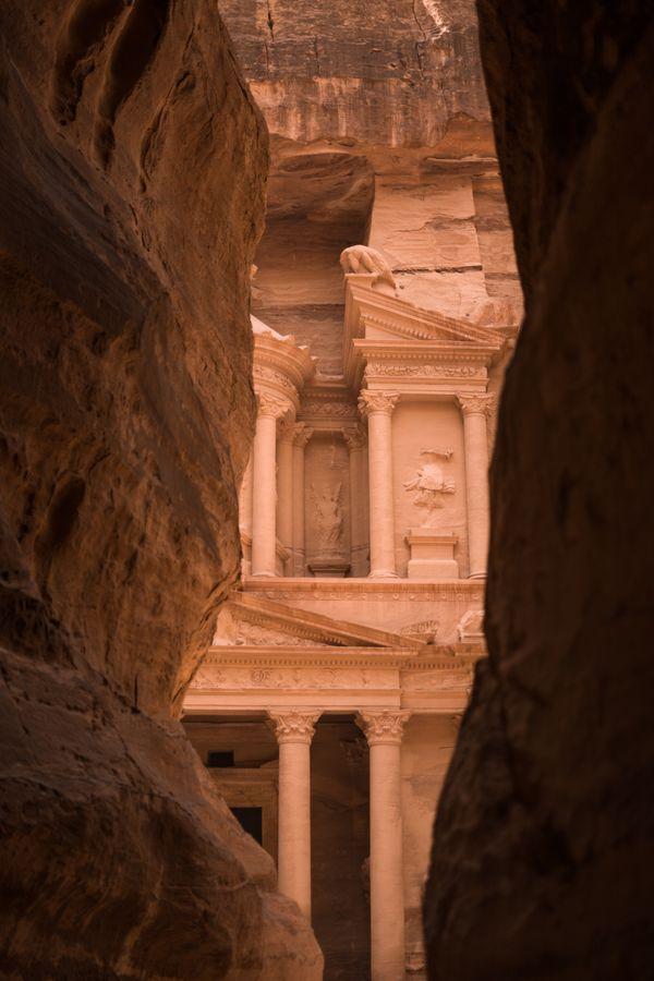 Hidden Treasury in Petra, Jordan