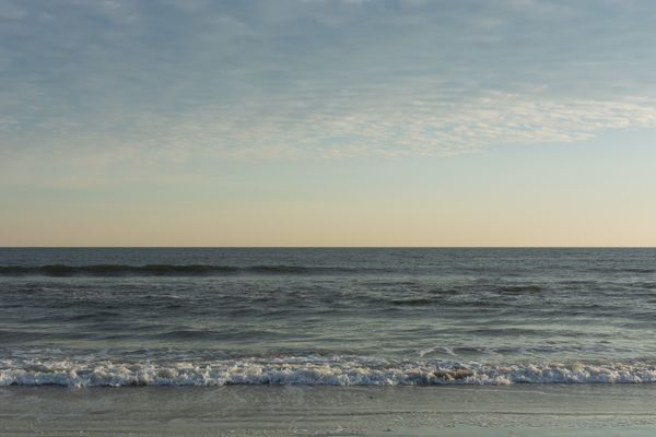 Calm Waves Rolling into Shore