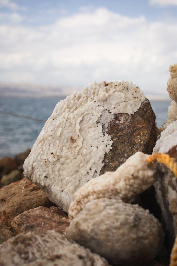 Salt on a Rock at the Dead Sea